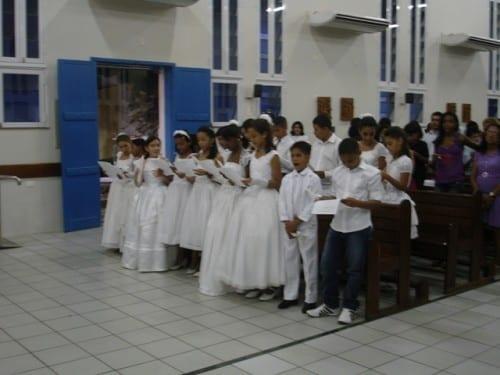 Batismo de crianças da Catequese